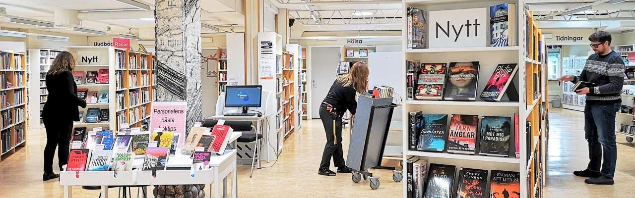 Interiör från Lindome bibliotek