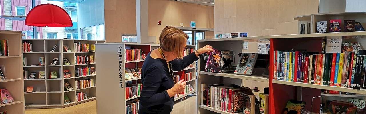 Barnavdelningen på biblioteket